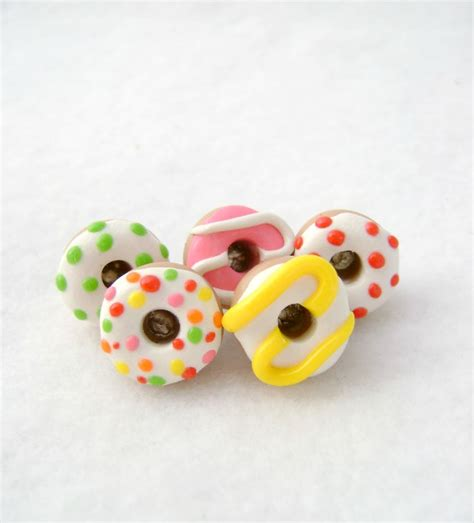 handmade buttons donut and owl accessories handmade