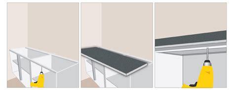assemblage meuble cuisine poser un plan de travail plan de travail