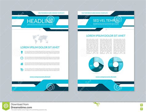 Flyer Brochure Annual Report Layout Template. A4 Size