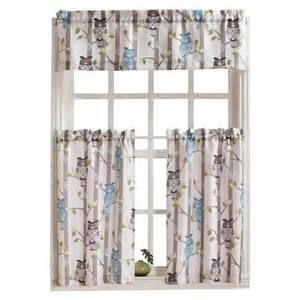 kitchen curtains at target no 918 owl kitchen valance mocha 56 quot x 14 quot target