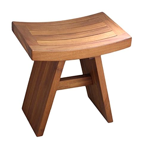 asia  solid teak wood shower bench water resistant