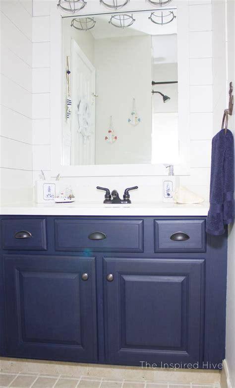 nautical bathroom makeover blue bathroom vanity