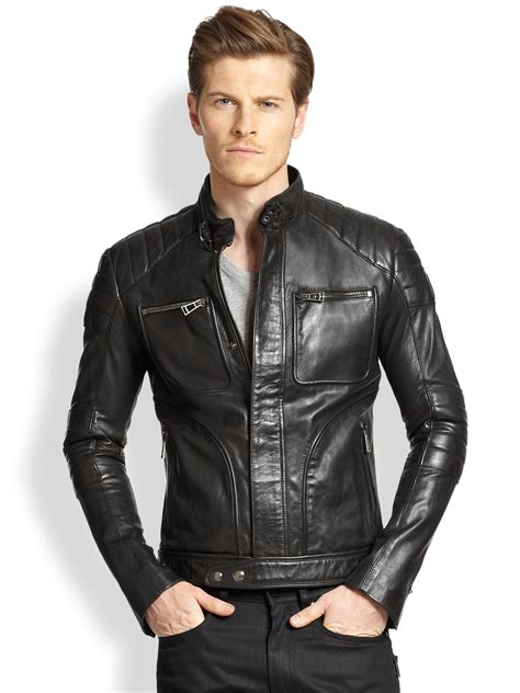 moto biker jacket belstaff weybridge quilted leather moto jacket in black