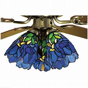 Meyda tiffany quot w iris fan light shade ceiling fixture