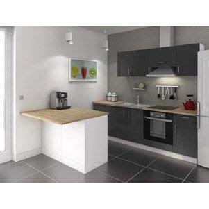cuisine avec electromenager inclus pas cher smart ilot de cuisine l 120x100 cm avec plan de travail