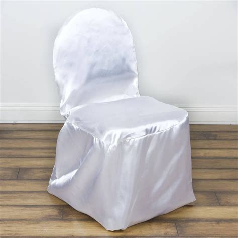 white satin banquet chair covers efavormart