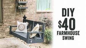 DIY 40 Farmhouse Porch Swing YouTube