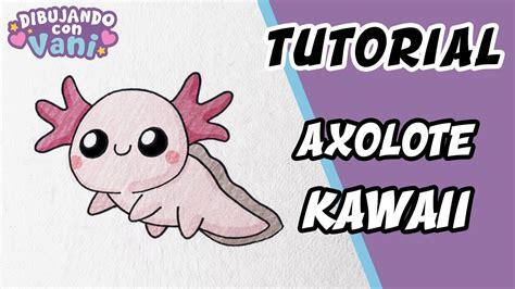 como dibujar ajolote kawaii dibujos anime de animales faciles  colorear draw axolotl