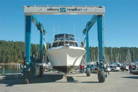 Marina Boat Lift by Stones Boatyard Nanaimo Marine Travel Lift Vancouver