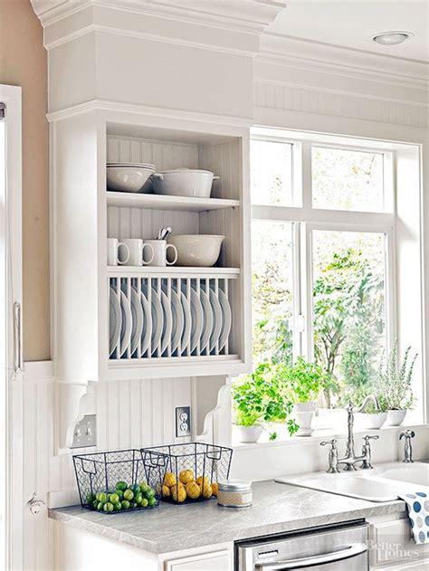 creative ways  store dishes bhgs  diy ideas kitchen kitchen rack kitchen decor