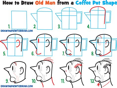 Learn How To Draw Cartoon Men Character's Faces From