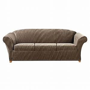 buy sure fitr stretch devon 4 piece sleeper sofa slipcover With devon 4 piece sectional sofa
