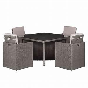 Polyrattan Lounge Grau : sitzgruppe paradise lounge iii 5 teilig polyrattan webstoff grau beige fredriks ~ Indierocktalk.com Haus und Dekorationen