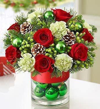 blossom florists christmas flowers lovely bauble vase