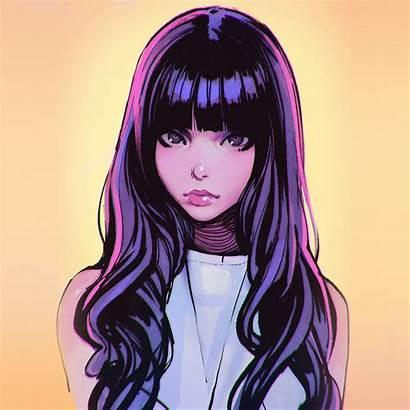 Face Illust Purple Ilya Papers Iphone Ipad