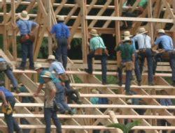 Amish Barn Raising by What Happens At An Amish Barn Raising