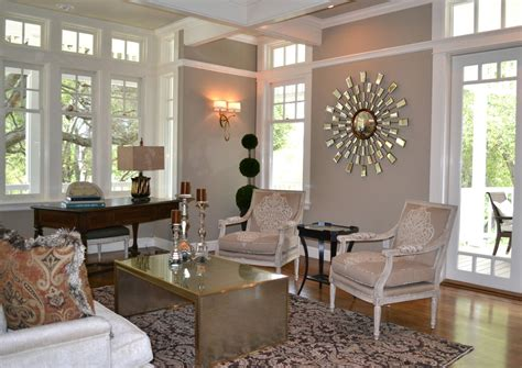 modern glam living room living room contemporary with white casings walnut writing desk neutral