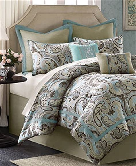 turquoise  brown bedding bed   bag  macys