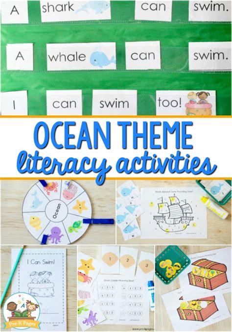 preschool literacy activities free preschool ocean theme literacy activities pre k pages