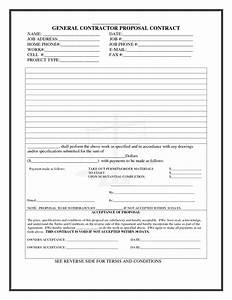best photos of construction proposal form templates free With general contractors contract template