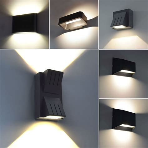 up leuchte moderne led aussenleuchte wandleuchte aussenle up le leuchte schwarz ebay design