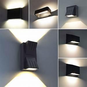 Led Lampe : details zu moderne led aussenleuchte wandleuchte aussenlampe up down lampe leuchte schwarz ~ Eleganceandgraceweddings.com Haus und Dekorationen