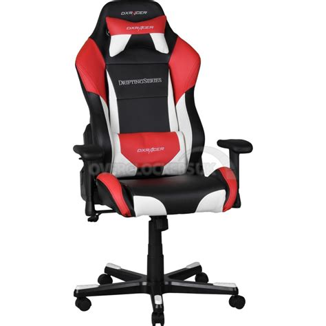 dxracer drifting series gaming chair black white oh