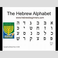 The Hebrew Alphabet Youtube