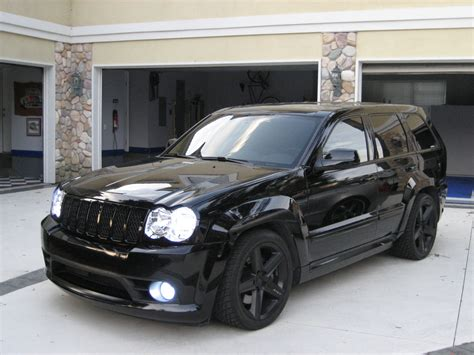 slammed jeep srt8 all blacked out jeep srt8 with hids cars pinterest
