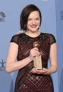 Elisabeth Moss wins at the Golden Globes 2014|Lainey ...
