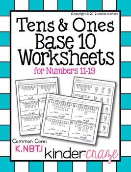 base  worksheets tens    numbers