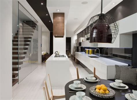 stylish home interiors modern house interior in white and black theme
