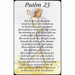 Dicksons Gifts - PSALM 23 POCKET CARD