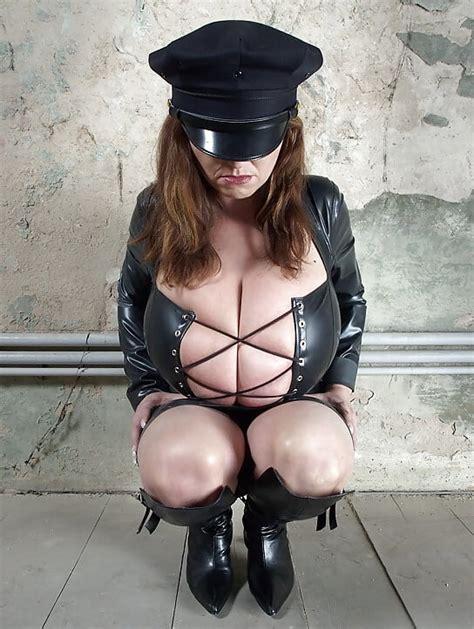 Milena V Milf Huge Natural Tits Latex And Leather 28