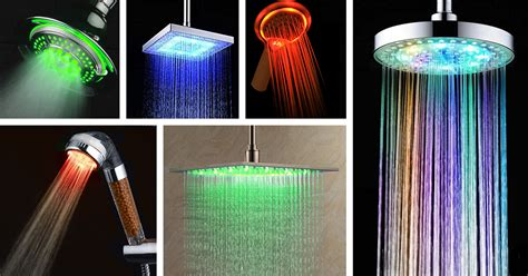 led shower heads ideas  designs