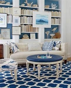 wandfarbe blau farbpalette inneneinrichtung und mobel With balkon teppich mit tapete für landhausküche