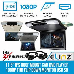 11 U0026quot  Dvd Player In Car Roof Mount Flip Down Monitor 32 Bits