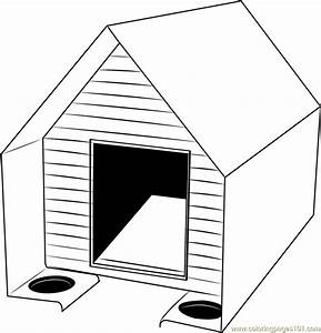 Cute Dog House Coloring Page - Free Dog House Coloring ...