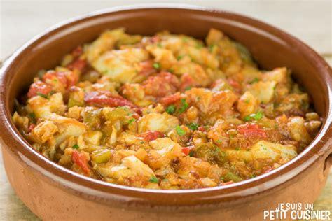 la cuisine espagnole recette de morue à l ajoarriero aux poivrons de piquillo