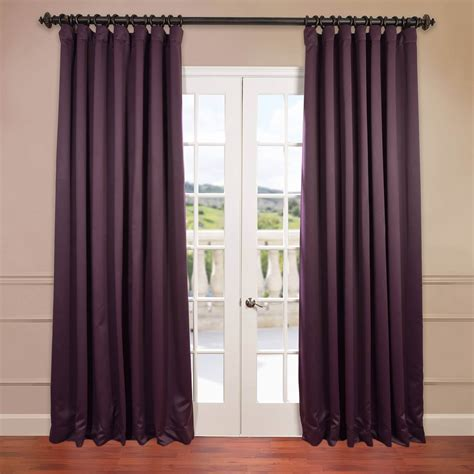 aubergine doublewide blackout curtain stock keeping unit