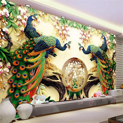 chinese style classic peacock green branches  nature