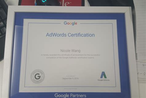 Adwords Certification by 100 Of Our Team Are Adwords Certified Including