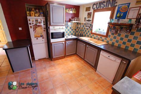 cuisine renovee cuisine beton cire cheap concrete countertop kitchen ilt