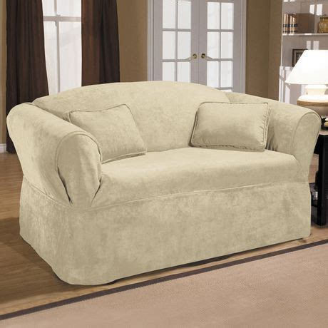 Sure Fit Sofa Covers Canada by Sure Fit Luxury Suede Relaxed Fit Sofa Slipcover Walmart