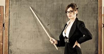 Teacher Maxim Working She Schoolteacher