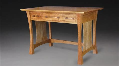 building  cherry writing desk woodworking youtube