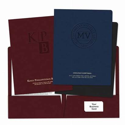 Folders Pocket Embossed Business Press Minespress Insurance