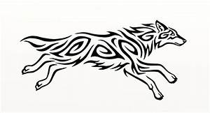 Running Wolf Outline Tattoo | www.pixshark.com - Images ...