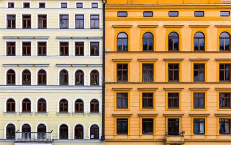 Old European facades stock image Image of travel