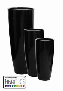 Cache Pot Haut : cache pot cylindrique haut en fibre de verre rev tement en gel noir grand hauteur 140 cm x ~ Teatrodelosmanantiales.com Idées de Décoration